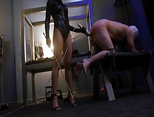 Oriental Femdom Mistress Cici Spanks And Pegging Her Sissy Slave With A Strap On For Only Fans