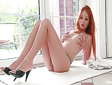 Racy Redhead Fingering Herself On Cam