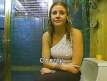 Redhead Cherry Handjob On The Toilet