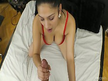 Captivating Busty Babe Ava Black Gives A Pov Blowjob And Gets He