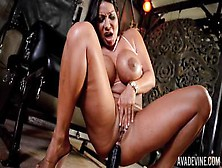 Bootiful Milf Ava Devine Toys Her Both Horny Holes With Huge Dildo