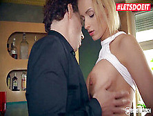 Letsdoeit - Blonde Anike Ekina Is Smashed Hard By Newbie Guy