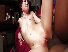 Short Haired Lady Is Gently Sucking A Big,  Black Cock And Gettin