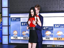 Weather Girl Gets Full Inches To Blast Her Superb Cunt