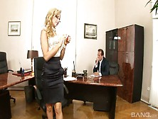 Hot Secretary From Hungary Aleska Diamond Is Fucked Right On The