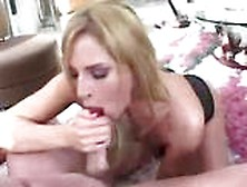 Naughty Blonde Co-Ed Does Fellatio And Nails Pole