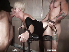 Lady In Black Lingerie Gives Her Bdsm Lover A Total Access