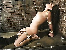 Naked Helpless Brunette Talia Monet Gets A Crazy Punishment In T