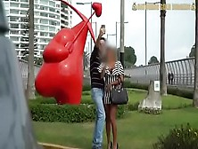 Bubble Butt Peruvian Gets Picked Up From The Park In Peru Lima And Fucked Hard