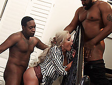 Nina Elle Gets Shared By Coal Fuckers Tyler Knight And Jack Blaq