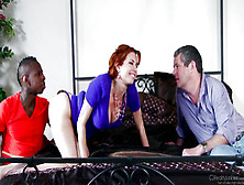 Redhead Housewife Veronica Avluv In Mom Cuckold Scene With Black