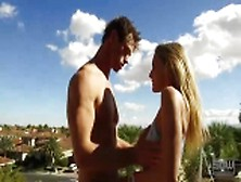 Sparksgowild - Mansion Backyard Fucking And Sucking Outdoors Cum Inside