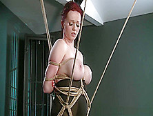 Bdsm Xxx Teen Redhead Slave Girl Is Suspended After Epic Blow Jo