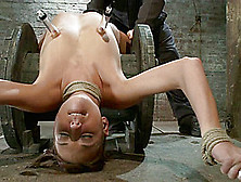 Nipple Torture,  Brutal Crotch Rope And Extreme Bondage Girl Next