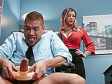 Sexy And Busty Karma Rxenjoys Rough Fuck With Her Boss In The Of